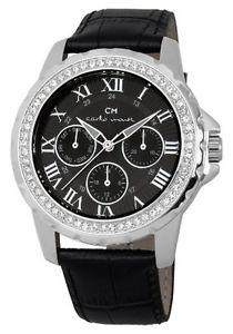 【送料無料】カルロモンティレザーカラーブラックcarlo monti cm600122 orologio da polso donna, pelle, colore nero r1a
