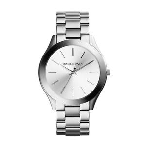 【送料無料】ミハエルスリムmichael kors mk3178 orologio al quarzo da donna slim runway silver