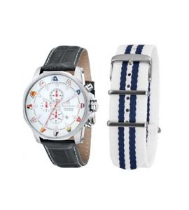 【送料無料】クロッククロノグレーレザーorologio spinnaker flaggy chrono grey leather sp501208 list 459