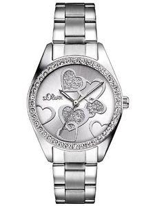 【送料無料】オリバーアナログステンレスsoliver so2857mq orologio da polso analogico, acciaio inossidabile, y6x