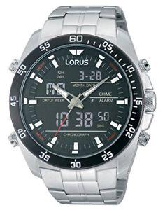 アナログデジタルクォーツステンレススチールlorus  orologio da polso, analogico  digitale al quarzo, acciaio inox