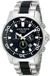 【送料無料】akribos ak561ttb orologio da polso da uomo m7c