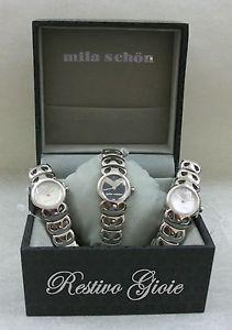 スチールファッションシェーンファッションウォッチorologio acciaio donna moda mila schon watch fashion
