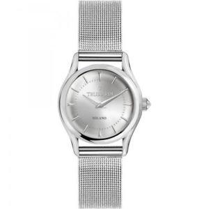 【送料無料】クロックライトカフメッシュシルバーorologio trussardi tlight donna solo tempo bracciale mesh silver r2453127505
