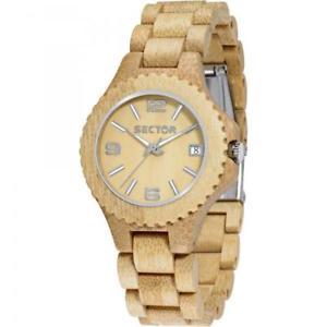 【送料無料】ブラウンorologio sector nature r3253478010 legno naturale wood marrone