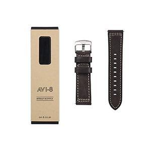 【送料無料】ストラップストラップカラー×avi8 avstrap24l04 cinturino per orologio da polso, uomo, pelle, colore x1z