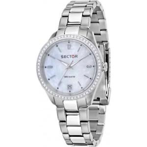 【送料無料】セクタースチールシルバーメートルorologio sector 245 r3253486502 donna watch acciaio silver 31 mm zirconi wr 100m