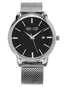 ニューヨークアナログストラップso amp; co  york  orologio da polso, uomo, analogico, cinturino in i1u