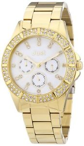 【送料無料】ステンレススチールjust watches 48s9059whgd orologio da polso donna, acciaio inox, i0d