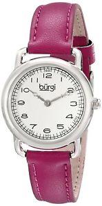 【送料無料】バールクオーツアナログburgi bur121pu orologio da polso al quarzo, analogico, donna, pelle, d9l:hokushin