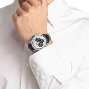 クロノグラフデザイナーヒューゴボスストラップhugo boss hb1512880 cinturino in pelle nera cronografo da uomo designer orologio da polso