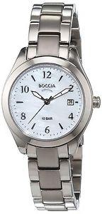 【送料無料】チタンカラーシルバーboccia 322401 orologio da polso donna, titanio, colore argento b7u
