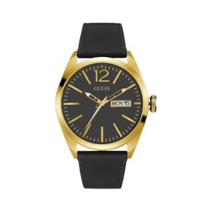 【送料無料】クロックゲントorologio guess gent leather vertigo w0658g5