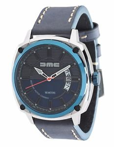 モータークロックライセンスdmc delorean gents orologio blu licenza ufficiale per la delorean motor company