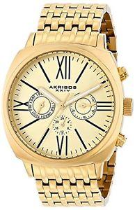 akribos ak636yg  orologio da polso da uomo i9x