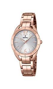 【送料無料】orologio da donna quarzo festina display analogico cinturino oro rosa e s5z