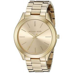 orologio michael kors da donna collezione slim runway mk3179 acciaio dorato