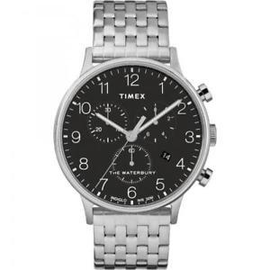 【送料無料】クロックウォーターベリークロノグラフスチールorologio timex waterbury cronografo acciaio tw2r71900