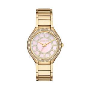 【送料無料】michael kors mk3396 kerry ladies tone gold watch