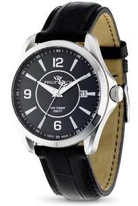 【送料無料】フィリップウォッチスチールブラックレザースイスorologio philip watch prestige blaze r8251165001 acciaio pelle nero swiss uomo