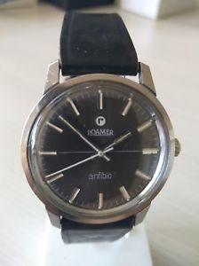 【送料無料】クロックヴィンテージステンレススチールウォッチnuova inserzioneroamer anfibio orologio manuale anni 70 vintage watch stainless steel 35mm