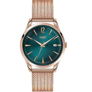 【送料無料】ヘンリーロンドンクロックマンストラトフォードグリーンhenry london orologio uomo stratford solo tempo verde 39mm hl39m0136