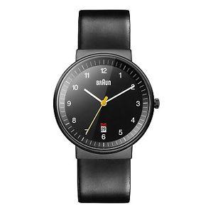【送料無料】アナログbraun bn0032bkbkg orologio da polso analogico, pelle, neronero f1k