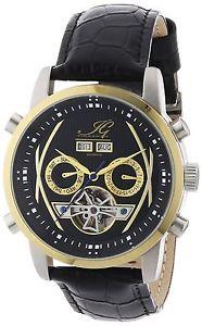 イングラハムイグレザーカラーブラックingraham ig buen1200117  orologio da polso uomo, pelle, colore nero t3v