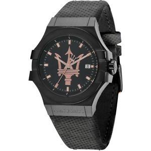 【送料無料】マセラティマセラティオスクロックマセラティマセラティパワークールmaserati orologio maschile maserati r8851108016 potenza pelle nero garanzia cool