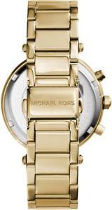 ミハエルクロックマンスチールクロノグラフストラップmichael kors orologio uomo acciaio color oro al quarzo cronografo cinturino 5354