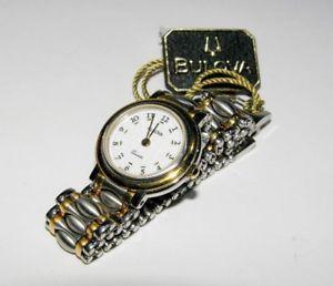 クロックbulova donna orologio quarzo acciaio e dorature braccialato 2592