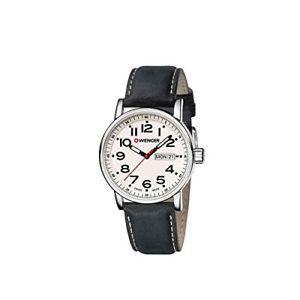 【送料無料】ウェンガーアナログレザーストラップウォッチwenger orologio da uomo analogico al quarzo con cinturino in pelle e3l