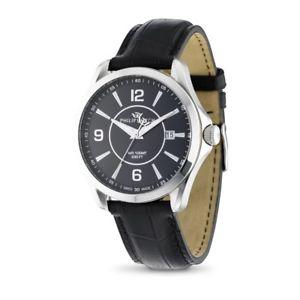 【送料無料】フィリップスイスorologio philip watch blaze r8251165001 uomo watch pelle nera datario swiss made