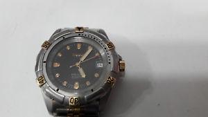 【送料無料】ティソトーンクロックサブダイバークォーツtissot pr100 orologio bicolore sub diver 100m quartz batteria