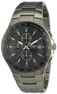 【送料無料】マニュアルクロノグラフクォーツチタンストラップboccia orologio da uomo cronografo al quarzo con cinturino in titanio m1m