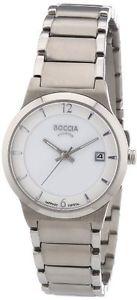 【送料無料】チタンカラーシルバーboccia 322301 orologio da polso donna, titanio, colore argento v5f