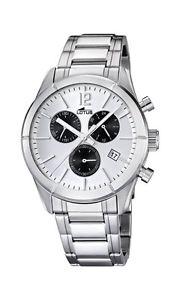 ステンレスカラーシルバーlotus 158495  orologio da polso, uomo, acciaio inox, colore argento c0n