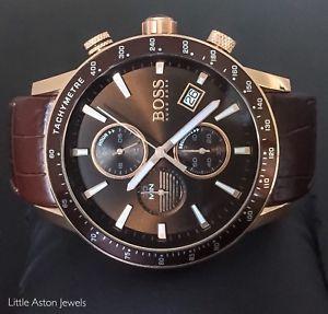 【送料無料】ヒューゴボスメンズラファルローズゴールドクロノグラフブランドhugo boss mens rafale rose gold orologio cronografo 1513392 garanzianuovo di zecca