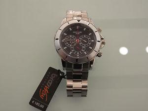 【送料無料】スチールウォッチアートorologio da polso uomo crono brosway in acciaio watch resistant 5 atm art md14