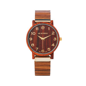 サンダルスイスクオーツゴールドab aeterno fenix red 35 legno sandalo rosso swiss quarzo oro donna orologio