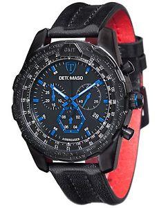 【送料無料】クロノグラフストラップdetomaso dtyg101e orologio da polso, cronografo da uomo, cinturino in c5e
