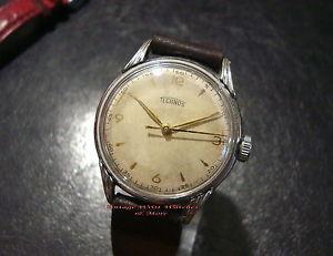 【送料無料】テクノスジュエルヴィンテージウォッチorologio  technos  17jewel  50s  good condition  vintage watch