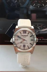 【送料無料】ストラップlocman orologio bianco donna cinturino bianco