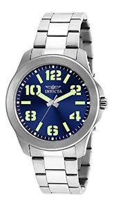 【送料無料】ステンレススチールクオーツクロックinvicta 21443 specialty orologio da uomo acciaio inossidabile quarzo e6r