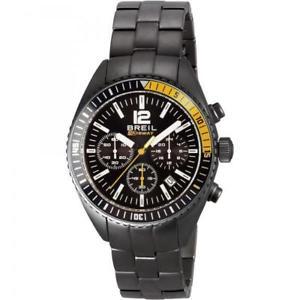 【送料無料】クロノカフスチールメートルorologio uomo breil midway tw1634 chrono bracciale acciaio nero 100mt