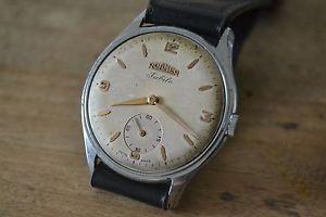 【送料無料】ローマーブランドメンズビンテージrare roamer jubile mens vintage watch uhr montre 37mm very fine movement