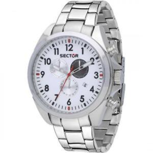 【送料無料】セクタークロノグラフホワイトスチールorologio sector 180 cronografo acciaio bianco r3273690010
