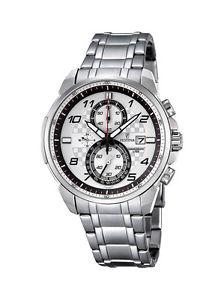 【送料無料】ウォッチマンステンレススチールホワイトクロノグラフカレンダーorologio festina uomo f68422 acciaio inox bianco chronografo datario