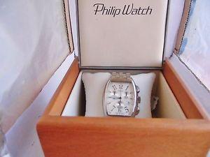 フィリップウォッチスチールマンオリジナルボックスnuova inserzioneorologio philip watch acciaio uomo  original box