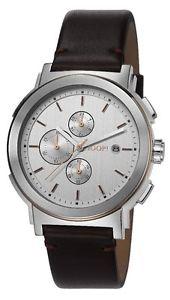 【送料無料】クロノグラフレザーストラップブラウンjoop orologio da polso, cronografo, uomo, cinturino in pelle, marrone r2u